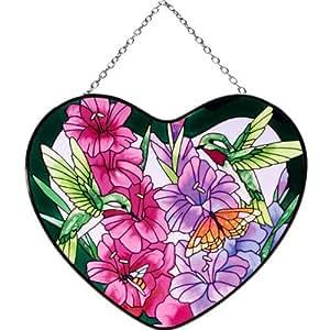 Joan Baker Hummingbirds and Gladioluses Suncatcher