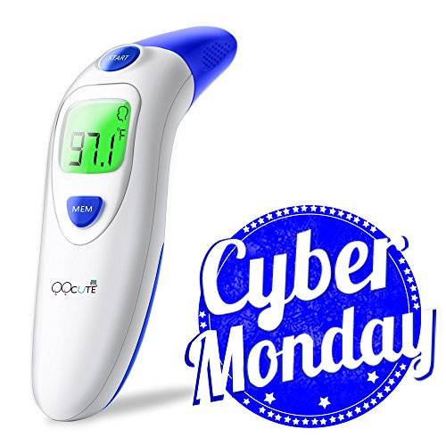 QQCute Digital Infrared Forehead Thermometer More Accurate (Large Image)