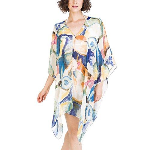Melifluos Summer Swimwear Cover-up Pareo:Beachwear Scarf Sarong for Bikini 082 PaintColor OS