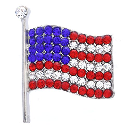 Soulbreezecollection American Flag Star USA Pin Brooch 4th of July Independence Day Jewelry (Small) by Soulbreezecollection