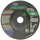 Norton Masonry Depressed Center Abrasive Wheel, Type 27, Silicon Carbide, 5/8'' Arbor, 4'' Diameter x 1/8'' Thickness (Pack of 25)