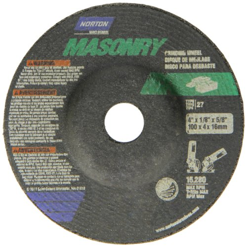 Norton Masonry Depressed Center Abrasive Wheel, Type 27, Sil