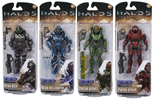 Halo 5: Guardians Series 2 Spartan Athlon, Buck, Hermes, Helljumper Action Figures Set of 4