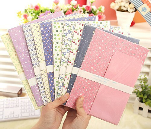 SCStyle 30 Cute Kawaii Lovely Colorful Design Writing Stationery Paper Letter Set with 15 Envelope (G262)