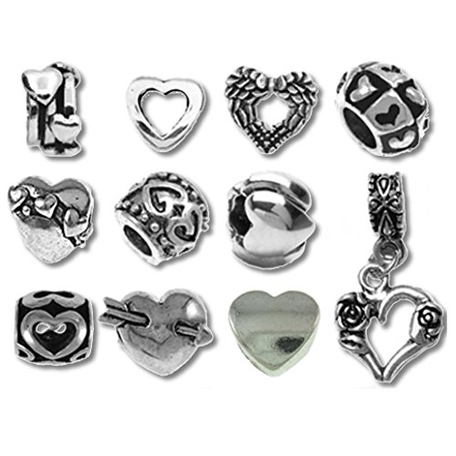 European Charm Bracelet Charms and Beads For Women, DIY Jewelry, Happy Hearts