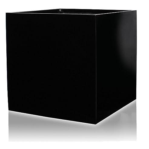 Pflanzkübel Blumenkübel CUBO 80F Fiberglas, 80x80x80 cm, schwarz ...