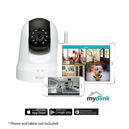 D-Link Pan Tilt Wireless Day Night Cloud Surveillance Security Camera w/WiFi Extender - DCS-5020L(Certified Refurbished)