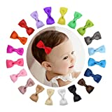 Shemay Tiny 2'' Hair Bows Fully Covered Hair Clips for Baby Girls Toddlers Infants