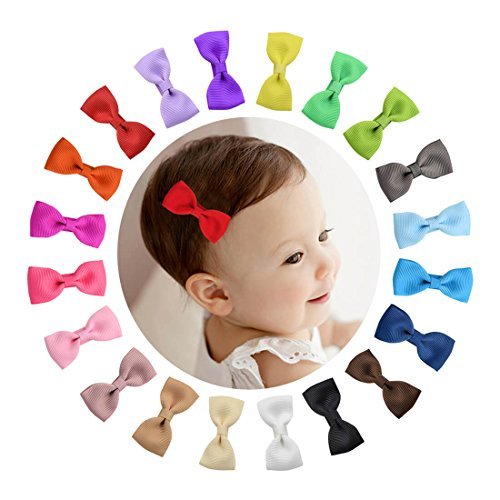 Shemay Tiny 2  Hair Bows Fully Covered Hair Clips For Baby Girls Toddlers Infants