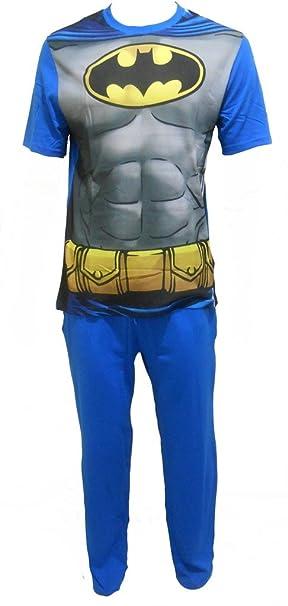 Batman - Pijama - Relaxed - Manga Larga - para Hombre Azul Turquesa