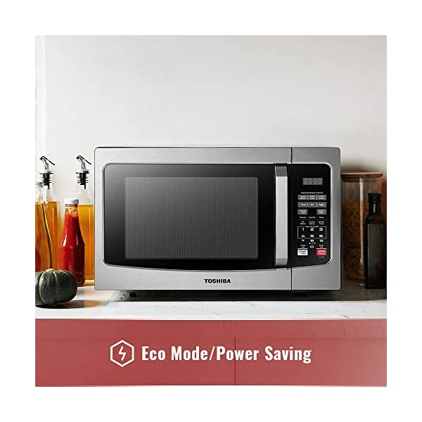 Toshiba EM131A5C-SS Microwave Oven with Smart Sensor, Easy Clean Interior, ECO Mode and Sound On/Off, 1.2 Cu Ft… 3
