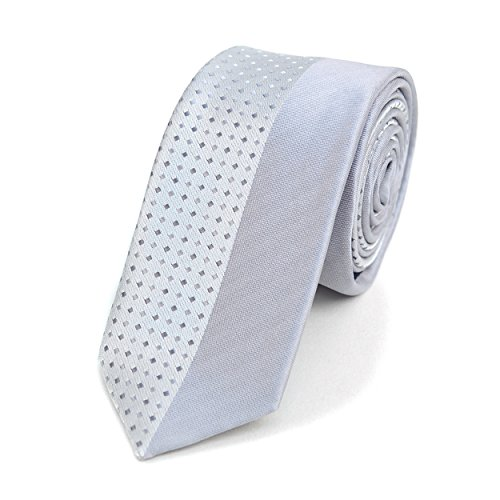 Floating Diamonds Slim Panel Microfiber Poly Woven Tie