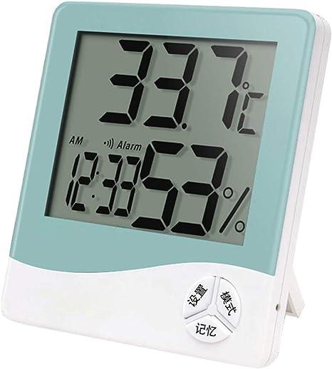 Kalaokei - Termómetro digital con pantalla LCD y reloj para temperatura interior Talla:Random Color: Amazon.es: Bebé
