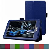 "Acer Iconia One 8 B1-810 / Tab 8 A1-850 Case,Mama Mouth PU Leather Folio 2-folding Stand Cover for 8"" Acer Iconia One 8 B1-810 / A1-850-13FQ Tablet,Dark Blue"