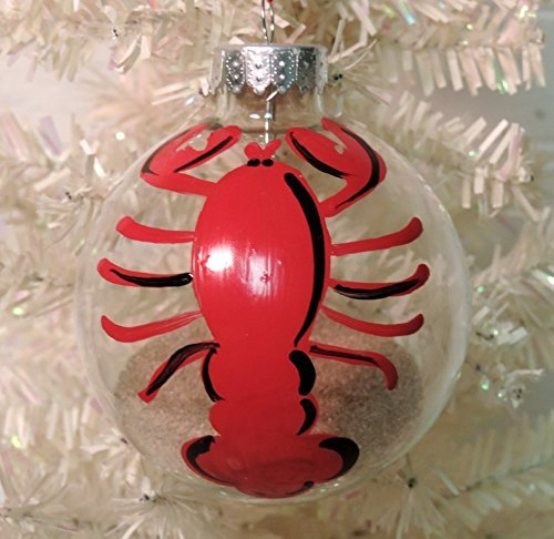 personalized hand painted lobster christmas tree ornament coastal decor - Red Lobster Open On Christmas