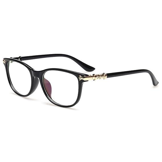 Highdas Hombres Mujeres Clear Lentes Gafas Marco Gafas: Amazon.es ...