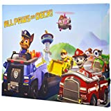 Edge Home Paw Patrol Vehicles 12-Inch-by-16-Inch Canvas Art with LED, Blue