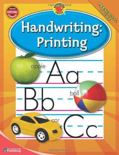 Workbook customizable handwriting worksheets : Brighter Child® Handwriting: Printing (Brighter Child Workbooks ...