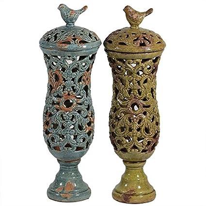 EN30252 Ceramic Jar [Set of 2]: Amazon.ca: Home & Kitchen on amazon wallets, amazon wine decanter, amazon garden stools, amazon frames,