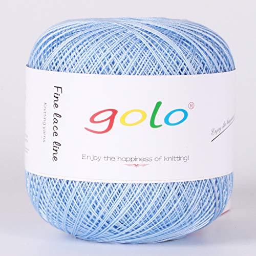 Cross Hardanger - Crochet Thread Yarns for Begingers Size10-100% Contton Yarn for Knitting Crochet DIY Hardanger Cross Sitch Crochet Thread Balls Rainbow Turquoise 39 Colors Avilable (Sky Blue)
