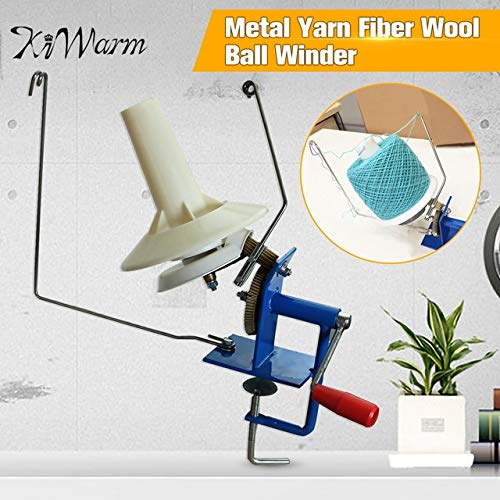 ShineBear Large Metal Yarn Fiber String Ball Wool Hand Operated Cable Winder Machine Household Winder Holder Winder Fiber 10oz Heavy Duty by ShineBear (Image #6)