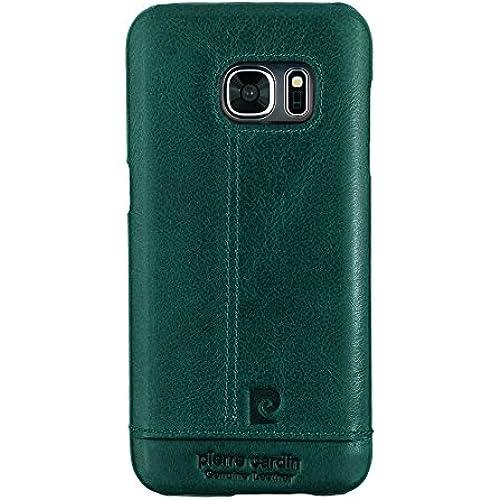 Galaxy S7 Case,Pierre Cardin Premium Genuine Leather Lightweight Slim Snap On Hard Back Cover For Samsung Galaxy S7 Dark Green Sales