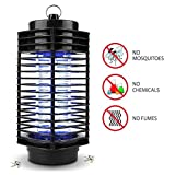 Muhoop Electronic Mosquito Killer Lamp,Bug Zapper,Flying Insect Trap UV Light Lamp Portable Standing or Hanging for Indoor and Outdoor Use