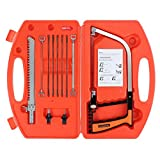 AUTOUTLET 11 in 1 Hand Saw Kit Multifunctional Metal Glass Wood Cutting Tool Magic Saw Blade Tile Drill for Wood, Plastic, Rubber, RV, Soft Metal, Stainless Steel, Tile