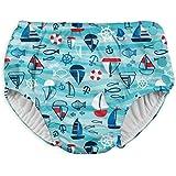i play. Snap Reusable Absorbent Swimsuit Diaper,Aqua Wavy Boats,18mo