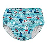 i play. Snap Reusable Absorbent Swimsuit Diaper,Aqua Wavy Boats,3T