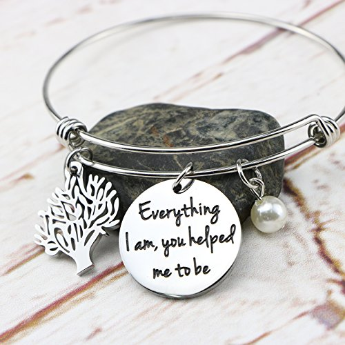 Awegift Expandable Bracelet Tree Life Wedding Party Jewelry Gifts Everything I am, you helped me to be by Awegift (Image #2)
