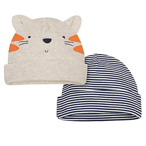 Gerber Baby Boys' 2 Pack Novelty Cap (0-6 Months, Tiger)