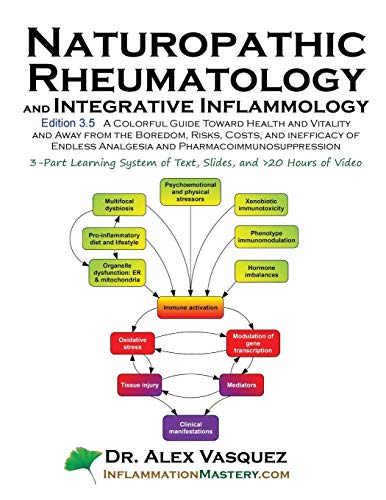Naturopathic Rheumatology and Integrative Inflammology V3.5: A Colorful Guide Toward Health and Vitality and Away from the Boredom, Risks, Costs, and (Inflammation Mastery & Functional Inflammology)