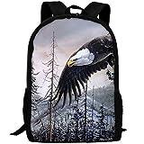 Bald Eagle Art Backpack Briefcase Laptop Travel Hiking School Bags Stylish Daypacks Shoulder Bag