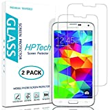 Galaxy S5 Screen Protector , [2-Pack] HPTech Samsung Galaxy S5 Premium Tempered Glass