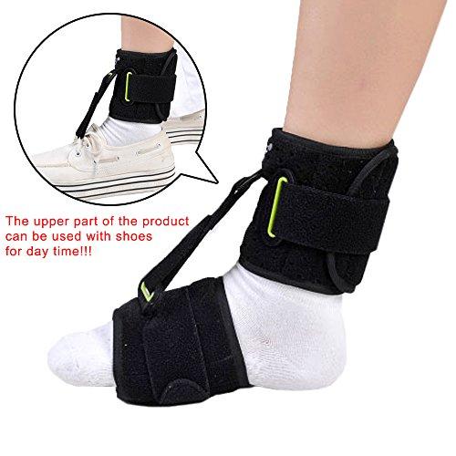 KONMED Foot-Up Drop Foot Brace AFO Orthotics Strap Ankle Support Elevator Plantar Fasciitis