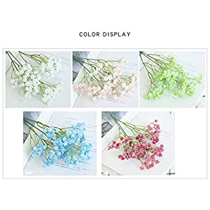 Yinrunx 135 Heads Baby Breath Flowers Artificial Gypsophila Flowers Fake Bouquet Floral for Home Party Wedding Decorations(Blue) 3
