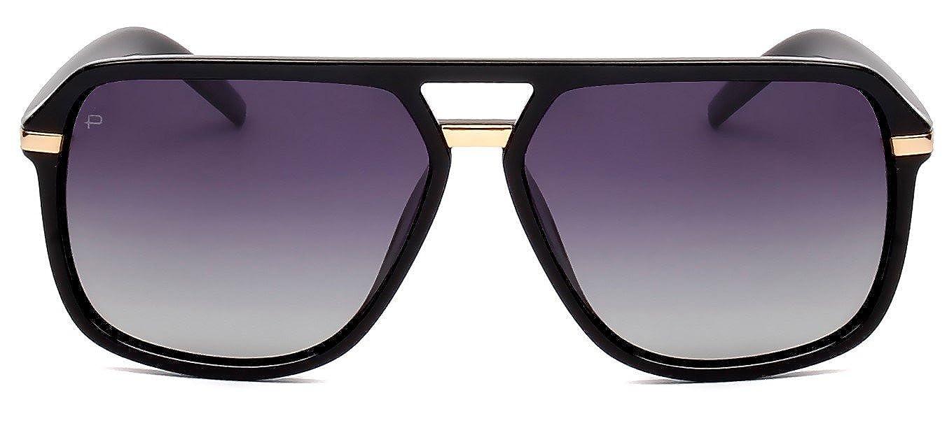 "e24e2a3954d Amazon.com  PRIVÉ REVAUX ICON Collection ""The Bruce"" Designer Polarized  Aviator Sunglasses  Clothing"