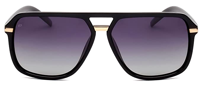 "47970aacdb8 PRIVÉ REVAUX ICON Collection ""The Bruce"" Designer Polarized Aviator  Sunglasses"
