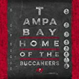Photo File Eye Chart Tampa Bay Buccaneers Unframed Poster 13x13 Inches