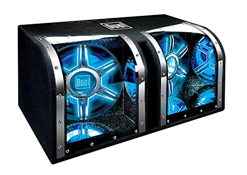 Subwoofer 12 Bandpass - Dual Electronics BP1204 12 inch illumiNITE High Performance Studio Enclosed Car Subwoofers with 1,100 Watts of Peak Power