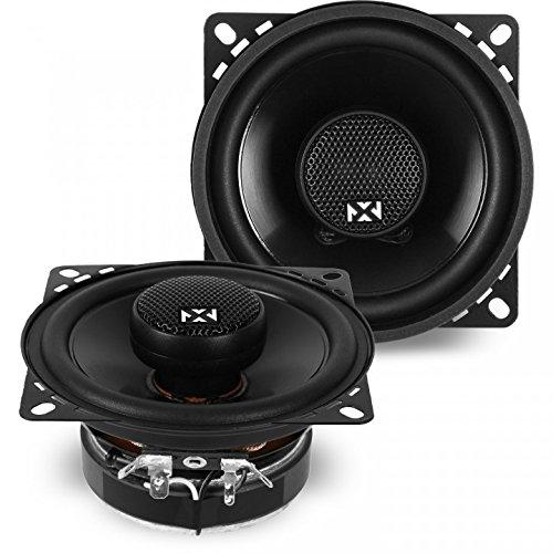- NVX 4-inch Professional Grade True 60 watt RMS 2-Way Coaxial Car Speakers [ N-Series ] with Silk Dome Tweeters, Set of 2 [NSP4]