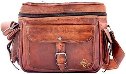 Estilo único hecho a mano bolso de piel Vintage cámara bolsa/casos ...
