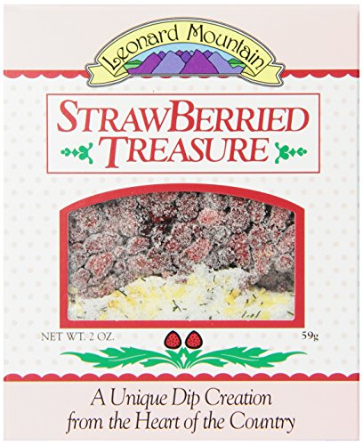 Leonard Mountain Strawberried Treasure Fruit Dip, 2-Ounce. Boxes (Pack of 6)