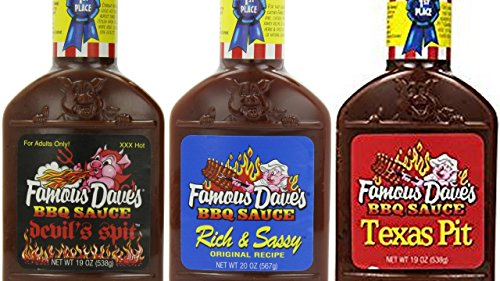 Famous Dave's BBQ Sauce Variety Bundle, 19-20 oz  includes 1