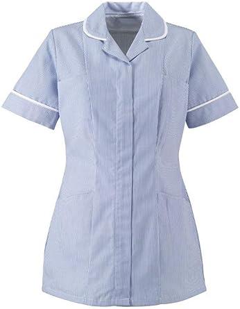 Camisa de enfermera ST298 azul Blue/White Stripe: Amazon.es: Ropa y accesorios