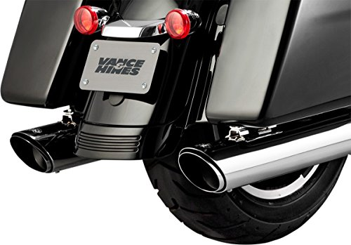 Vance and Hines 16672 Twin Slash Round 4in. Chrome Slip-On Exhaust for Harley Davidso -Touring-2017 and 2018 Models ONLY