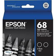 Epson T068120-D2 Ink Cart Hi capacity Dual Pack-Black