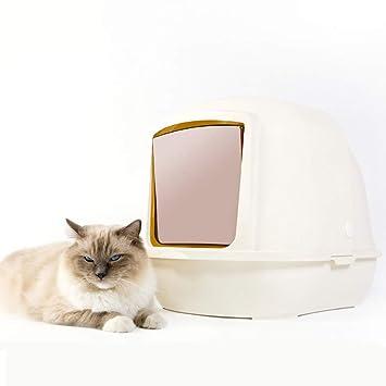 BYCWS Caja de Arena para Gatos con Capucha, Inodoro Totalmente Cerrado para Gatos: Amazon.es: Productos para mascotas