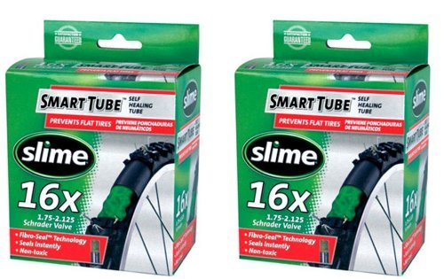(Slime Self-Healing 16 x 1.75-2.125 Bicycle Tube (2))